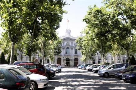 Fachada principal del Tribunal, en Madrid. EFE/Archivo